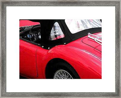 M G  Red Framed Print by Angela Davies