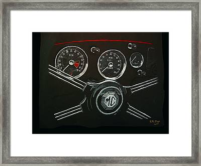 Framed Print featuring the painting Mga Dash by Richard Le Page