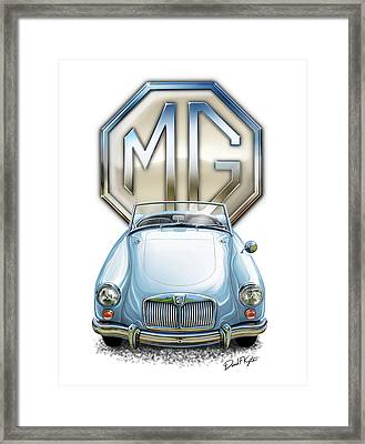 Mga Sports Car In Light Blue Framed Print