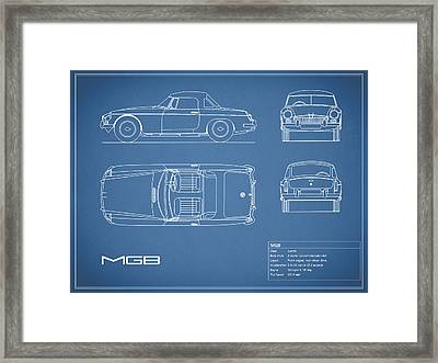 Mgb Blueprint Framed Print