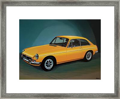Mgb Gt 1966 Painting  Framed Print by Paul Meijering