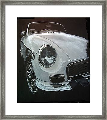 Framed Print featuring the painting MGB by Richard Le Page