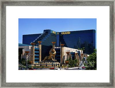 Mgm Grand Hotel Casino Framed Print