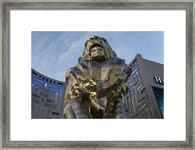 Mgm Lion Vegas Framed Print