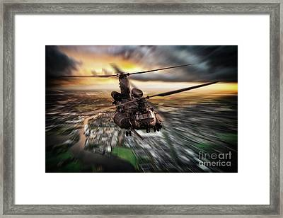 Mh-47 Chinook Framed Print