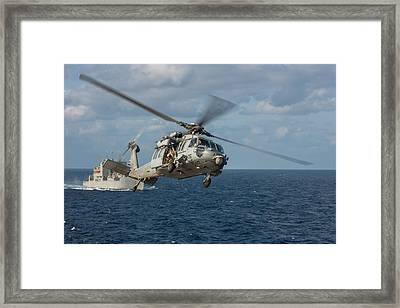 Mh-60s Sea Hawk Helicopter Framed Print by Celestial Images