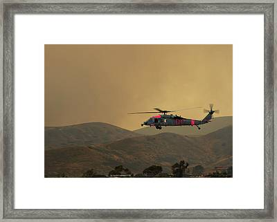 Mh-60s Sea Hawk Helicopter Us Navy Framed Print by Celestial Images