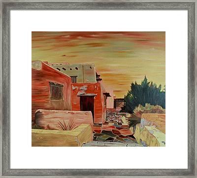 Mi Casa Framed Print by Oudi Arroni