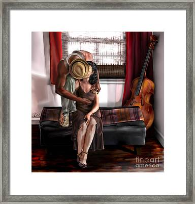 Mi Chica-amo A Mi Esposita  Framed Print by Reggie Duffie