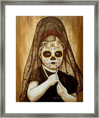 Framed Print featuring the painting Mi Hermosa Flor by Al  Molina