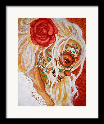Painted Faces Framed Prints