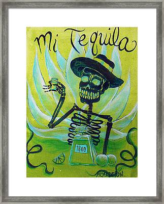 Mi Tequila Framed Print by Heather Calderon