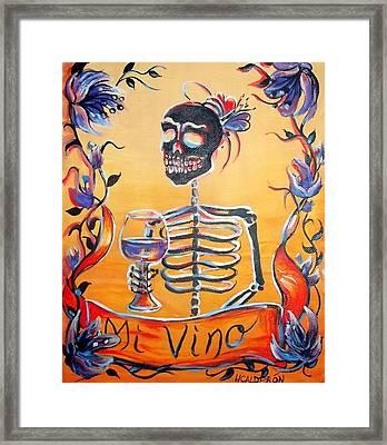 Mi Vino Framed Print