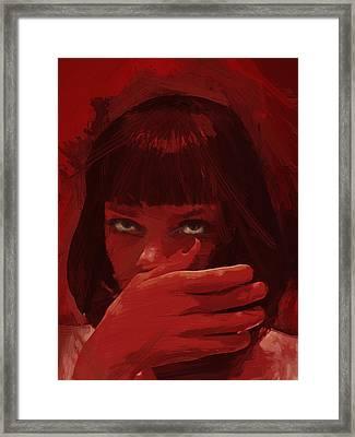 Mia Wallace - Pulp Fiction Framed Print