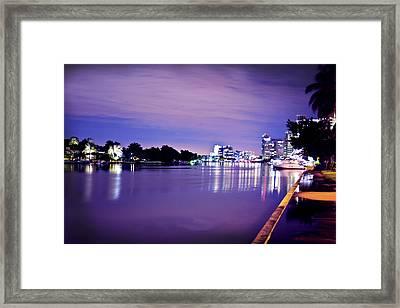 Miami Bay Framed Print