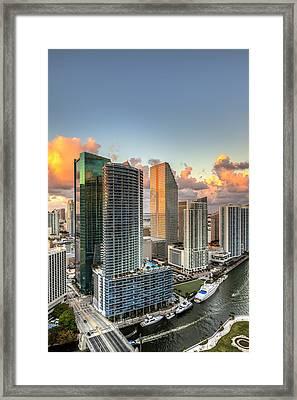 Miami Bayside Framed Print