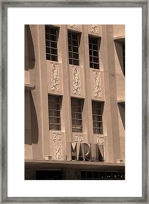 Miami Beach - Art Deco 84 Framed Print by Frank Romeo