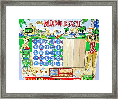 Miami Beach Framed Print by Beth Saffer