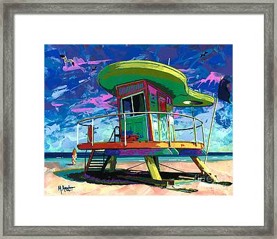 Miami Beach Lifeguard Tower Framed Print