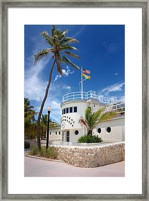 Miami Beach Patrol Hq Framed Print