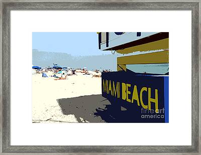 Miami Beach Work Number 1 Framed Print by David Lee Thompson