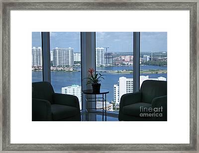 Miami Business World Framed Print by Mary Lou Chmura