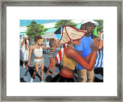 Miami Carnival Framed Print by Alima Newton