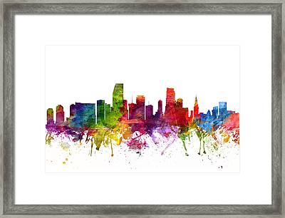 Miami Cityscape 06 Framed Print by Aged Pixel