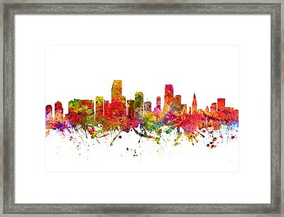 Miami Cityscape 08 Framed Print by Aged Pixel