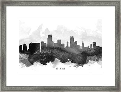 Miami Cityscape 11 Framed Print