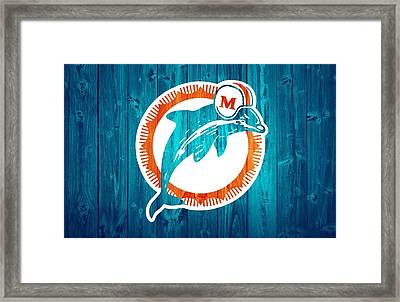 Miami Dolphins Barn Door Framed Print by Dan Sproul
