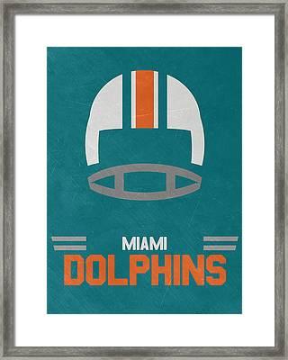 Miami Dolphins Vintage Art Framed Print by Joe Hamilton