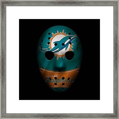 Miami Dolphins War Mask 3 Framed Print