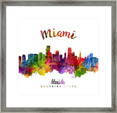 Miami Florida 23 Framed Print by Aged Pixel