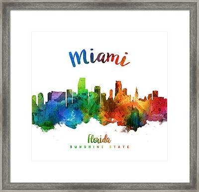 Miami Florida 25 Framed Print by Aged Pixel