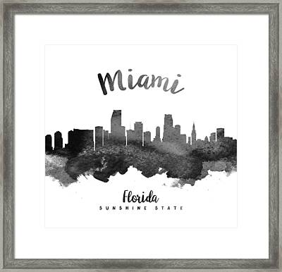 Miami Florida Skyline 18 Framed Print