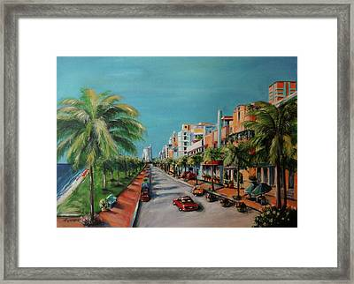 Miami For Daisy Framed Print by Dyanne Parker