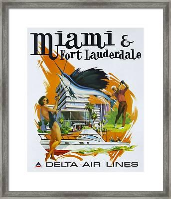 Miami - Ft Lauderdale Framed Print