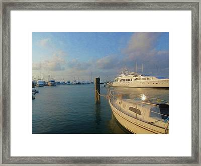 Miami Harbor Framed Print by JAMART Photography