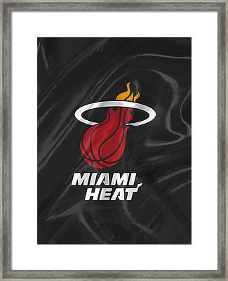 Miami Heat Framed Print by Afterdarkness