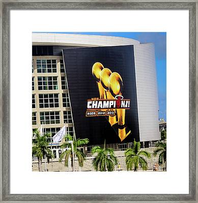 Miami Heat Nba Champions 2006-2012-20133 Framed Print