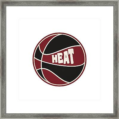 Miami Heat Retro Shirt Framed Print by Joe Hamilton
