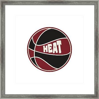 Miami Heat Retro Shirt Framed Print