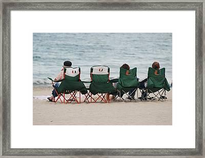Miami Hurricane Fans Framed Print by Rob Hans