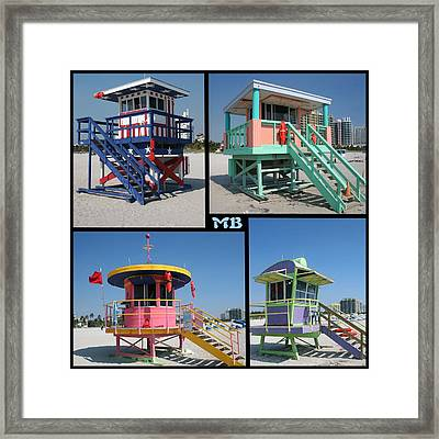 Miami Huts Framed Print by DJ Florek