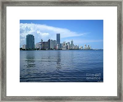 Miami Framed Print by Keiko Richter