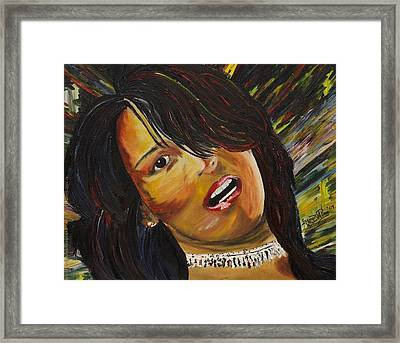 Miami Latina Framed Print by Gregory Allen Page