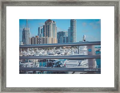 Miami Marina Framed Print by Claudia M Photography