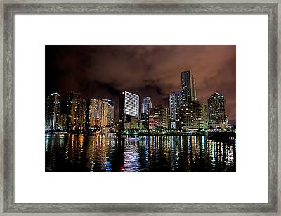 Miami Framed Print by Nelson Rodriguez