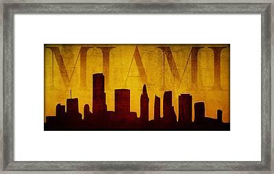 Miami Framed Print by Ricky Barnard